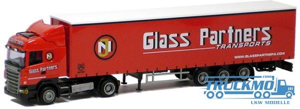 "AWM Glass Partners LKW Scania ""09"" Highl.Aerop.-Mega-G-KSZ Modell"