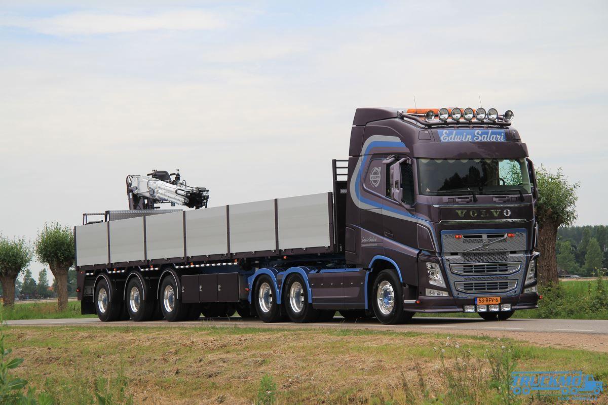 WSI Edwin Salari Volvo FH4 Globetrotter brick trailer 3 axle 01-2228 new  tooling double air brick trailer | TRUCKMO Truck Models – Your Truck Models  ...