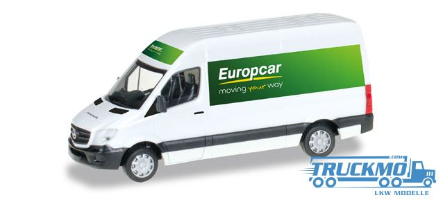 herpa europcar mercedes benz sprinter 13 kasten hochdach. Black Bedroom Furniture Sets. Home Design Ideas
