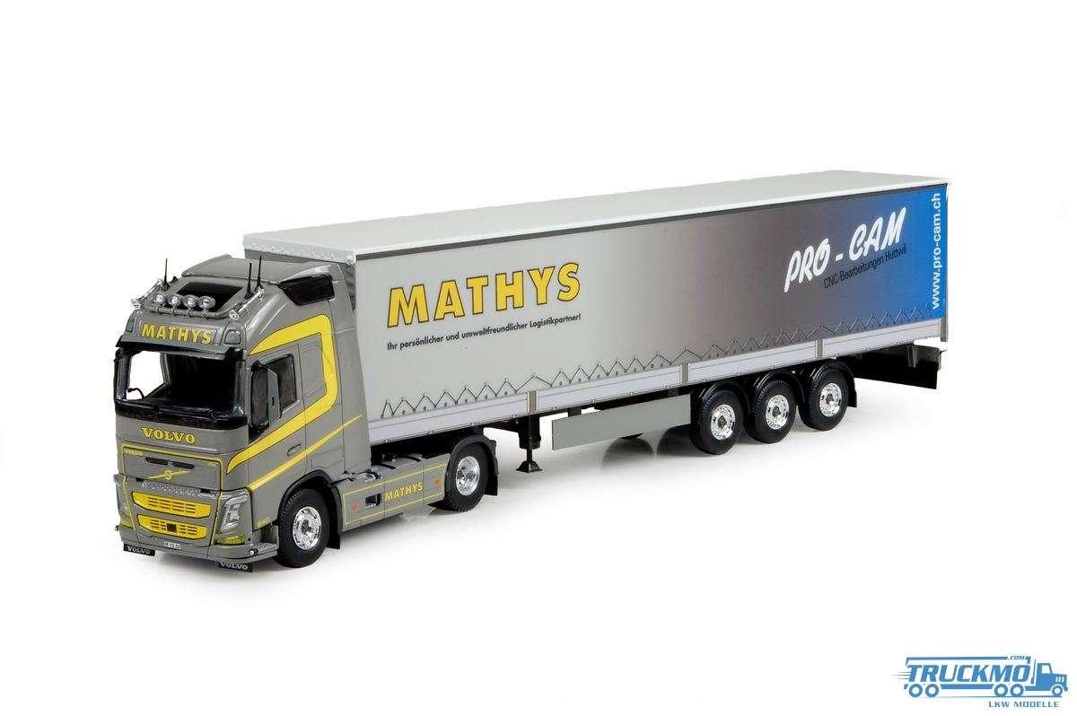Tekno Mathys Volvo FH04 Globetrotter XL mit Planenauflieger 73917