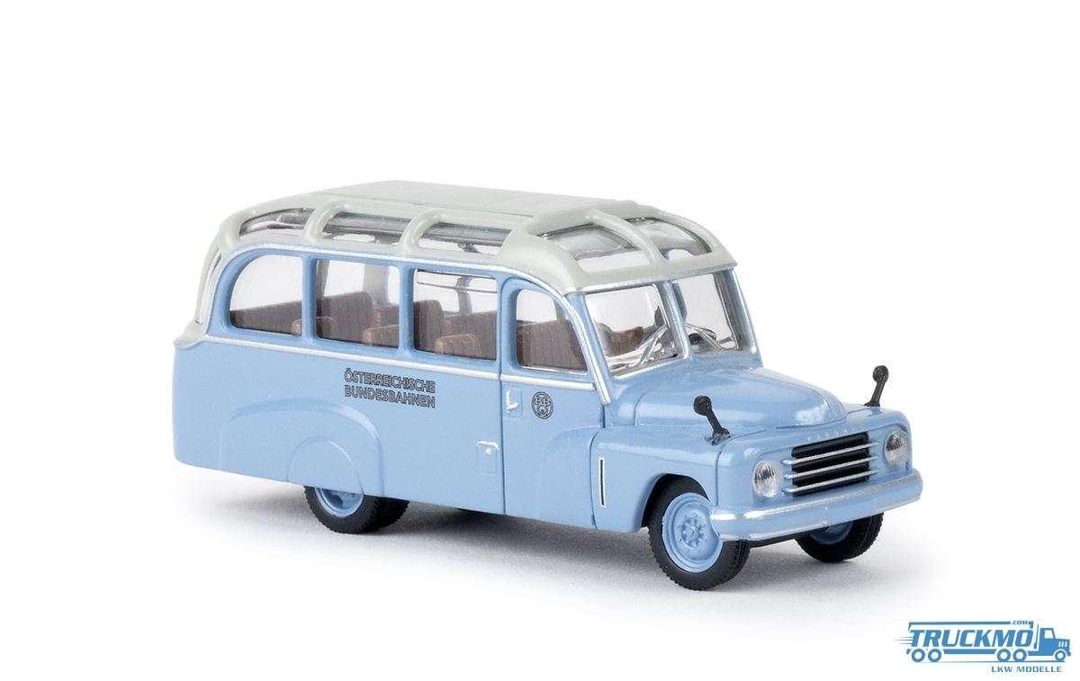 Brekina Modelle ÖBB Hanomag L28 Lohner Bus 58185