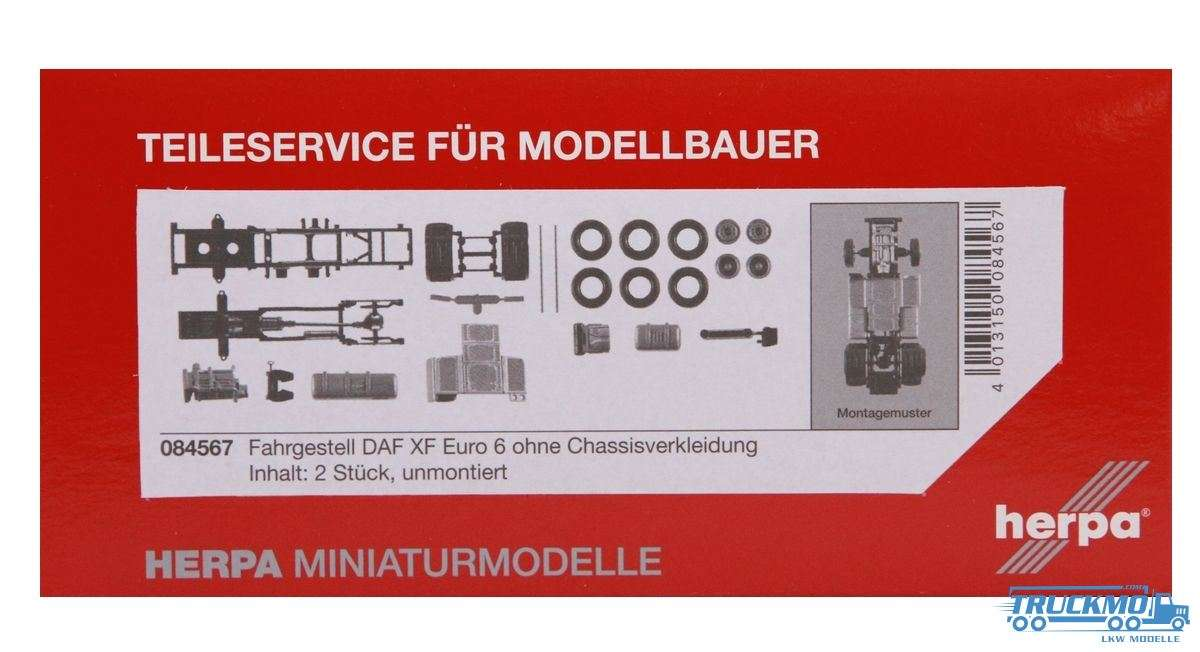 Herpa Fahrgestell DAF XF Euro 6 ohne Chassisverkleidung 084567