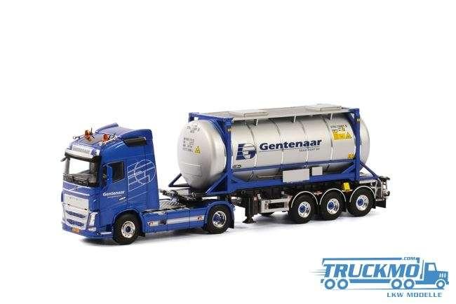 WSI Gentenaar Transport LKW Modell Volvo FH4 Globetrotter XL mit Tankcontainer 01-1782D