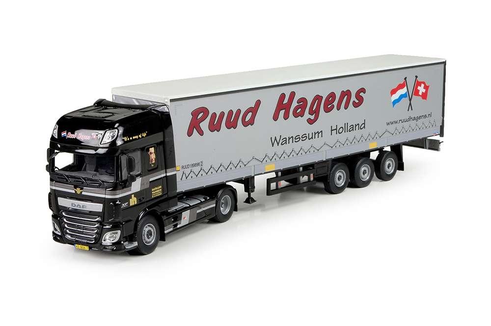 Tekno Ruud Hagens Datrans DAF Euro 6 XF Super Space Cab mit Schiebeplanen-Auflieger 71136