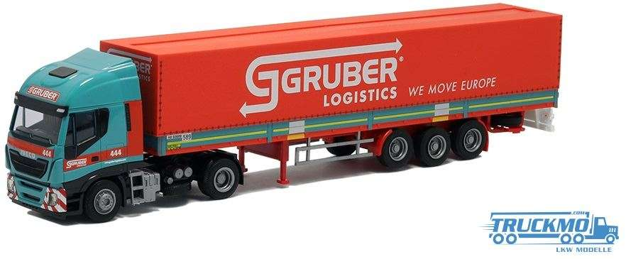 AWM Gruber Iveco Stralis HiWay Planenauflieger 75419
