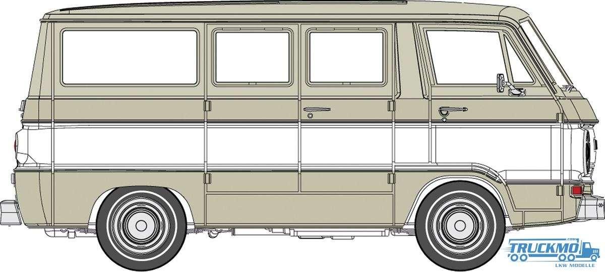 Brekina Custom Sportsman Dodge A 100 Bus 34305