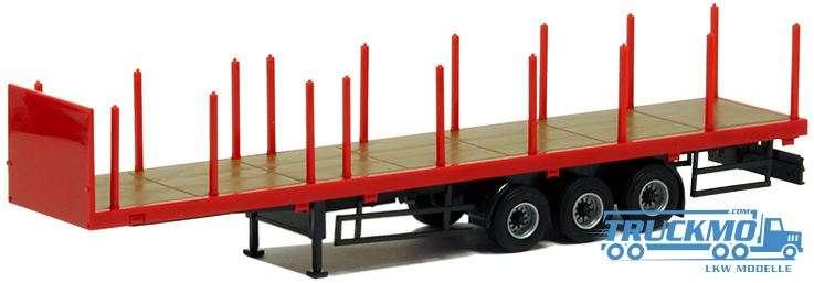 AWM Rungenpritsche 3achs (Ladefläche rot, Chassis schwarz) 671606