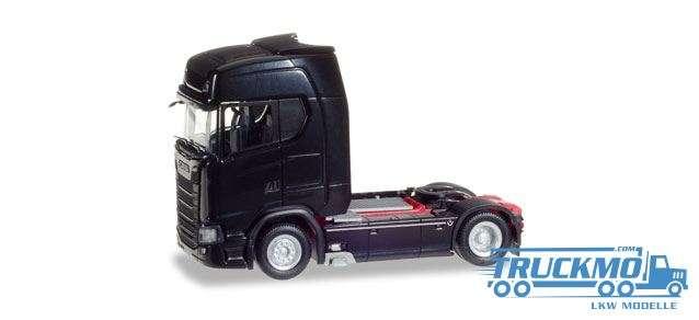 Herpa Scania CS 20 HD V8 Zugmaschine mit Sonnenblende schwarz 307468