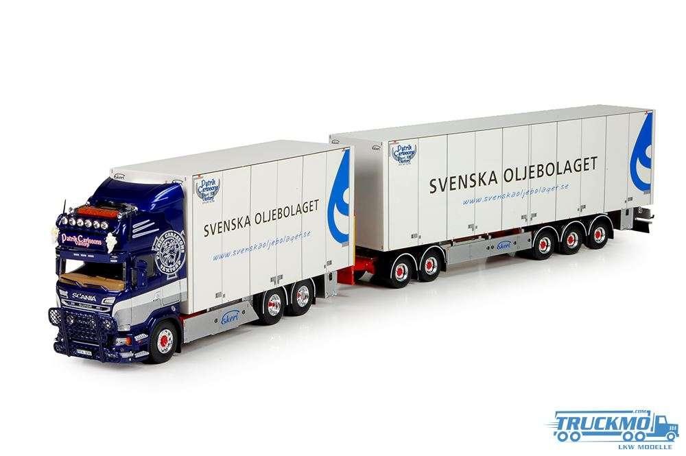 Tekno Patrick Carlsson LKW Modell Scania R-Serie Motorwagen Schwedisch Kombination 70253