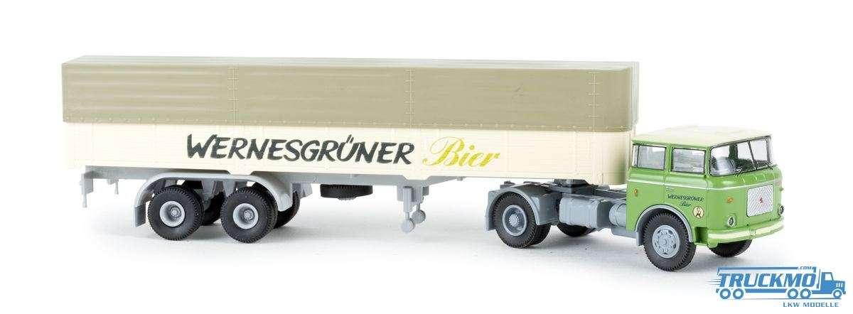 Brekina Wernesgrüner Bier LIAZ 706 PP Sattelzug 71808