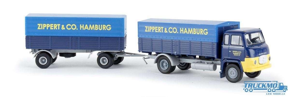 Brekina Zippert & Co Scania LB 76 Hängerzug 85054