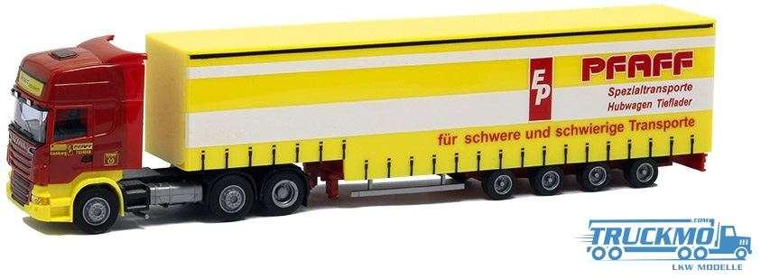 AWM Pfaff Scania R09 Topline Jumbo-Planenauflieger 8492.81