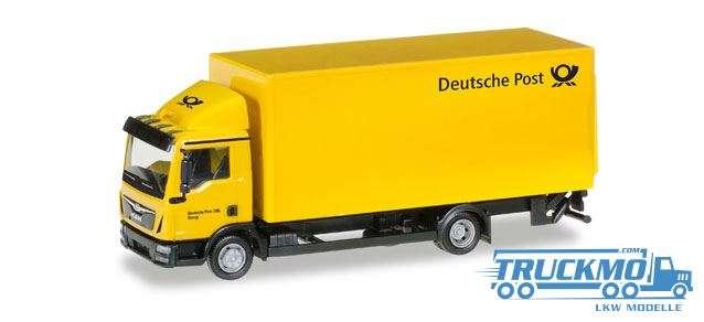 Herpa Deutsche Post MAN TGL Koffer-LKW mit Ladebordwand 308212