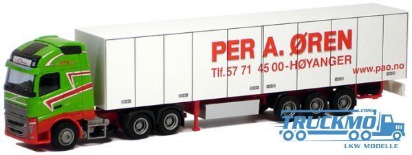 AWM Per Oren Volvo 12 XL Aerop. Kühlkoffersattelzug LKW Modell