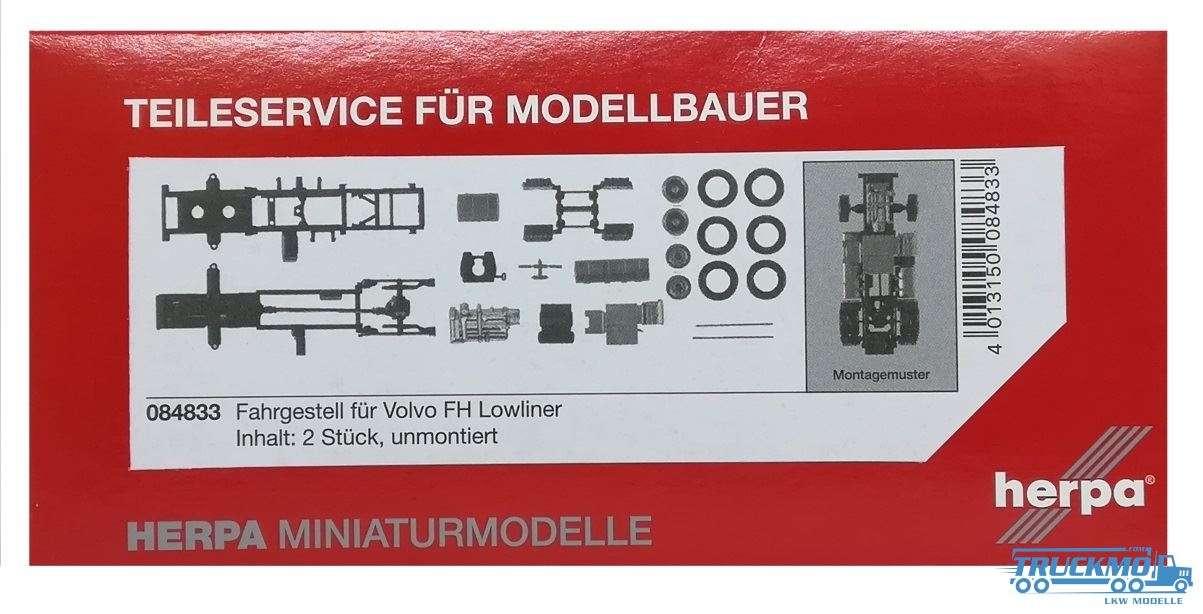 Herpa Zugmaschinen-Fahrgestell Volvo FH Lowliner Inhalt: 2 Stück 084833