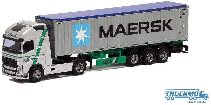 AWM Hebra / Maersk Volvo FH12 Globetrotter XL Container Auflieger 75257
