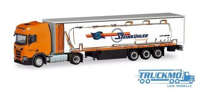 Herpa Steinkühler Scania CR HD Gardinenplanen-Sattelzug 311144