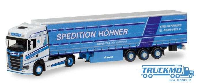 Herpa Höhner Scania CS HD Gardinenplanen-Sattelzug 308458