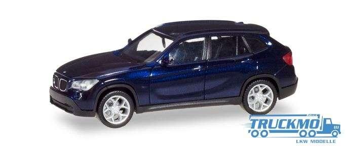 Herpa BMW X1 estorilblau metallic 034340-004