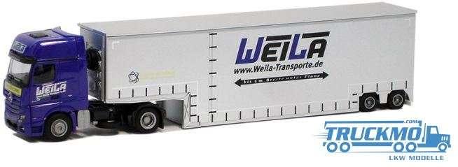 AWM WeiLa Mercedes Benz Actros Gigaspace Tiefbett-Sattelzug 75032