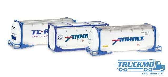 Herpa Anhalt Tankcontainer-Set Inhalt: 3 Stück 076500-004
