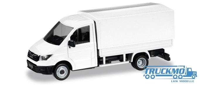 Herpa MiniKit: MAN TGE Einfachkabine mit Pritsche und Plane weiß 013451