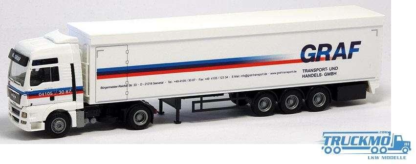 AWM Graf MAN TGX XXL Schubboden-Sattelzu Lkw-Modell 74185