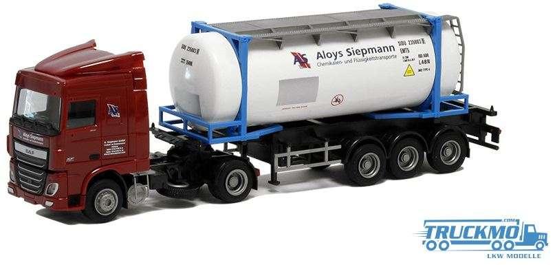 AWM Siepmann DAF XF 106 Space Cab Containerauflieger 75326