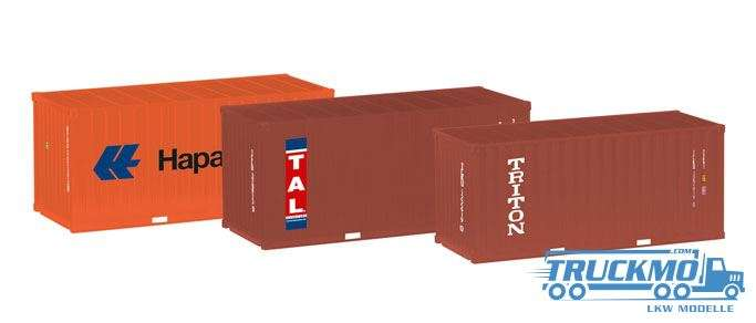 Herpa Container-Set 3x20 ft. Hapag Lloyd / TAL / Triton 076432-003