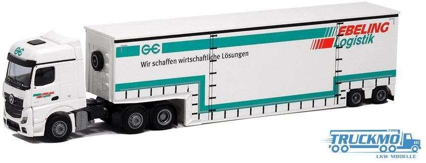 AWM Ebeling Mercedes Benz Actros 2 Bigspace Tiefbett-Sattelzug 75069