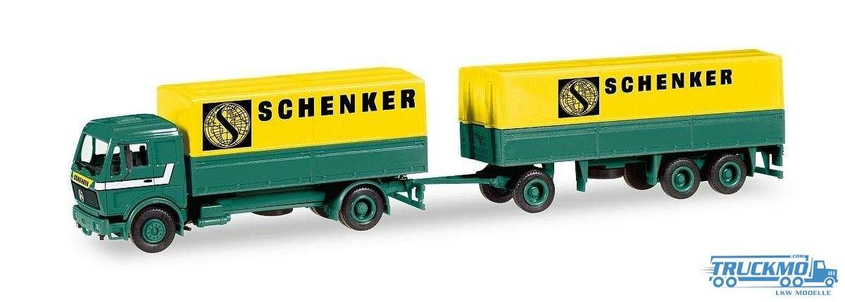 Herpa MiniKit Schenker Friedrichshafen Mercedes Benz NG 80 Planen-Hängerzug 013376