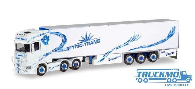 Herpa Trio-Trans Scania CS 20 high roof 6×2 Kühlkoffer-Sattelzug 309967