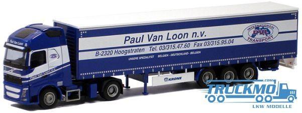 AWM Paul van Loon Volvo 12 XL Aerop. Gardinenplanensattelzug LKW Modell