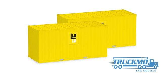 Herpa Leonhard Weiss 2 x 20 ft. Container 076814
