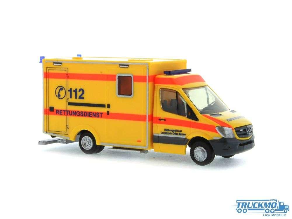 Rietze Modelle Rettungsdienst Landkreis Oder-Spree Mercedes Benz WAS RTW Facelift 13 61719