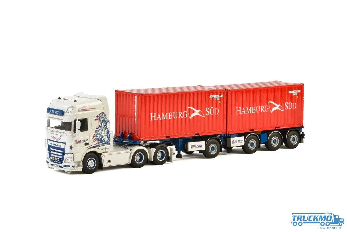 WSI Oehlrich DAF XF SSC Broshuis 2-Connect Container Chassis + 2x 20ft Container 01-2429