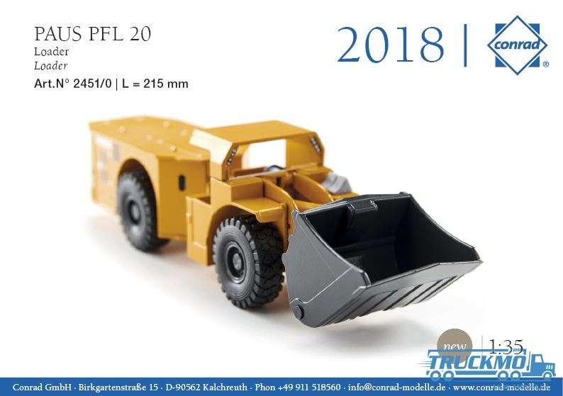 Conrad Paus PFL 20 Lader 2451/0 1:35