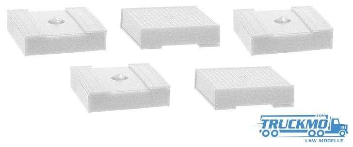 Herpa Palettenkasten weiß 5 Stück alte Ausführung 692557