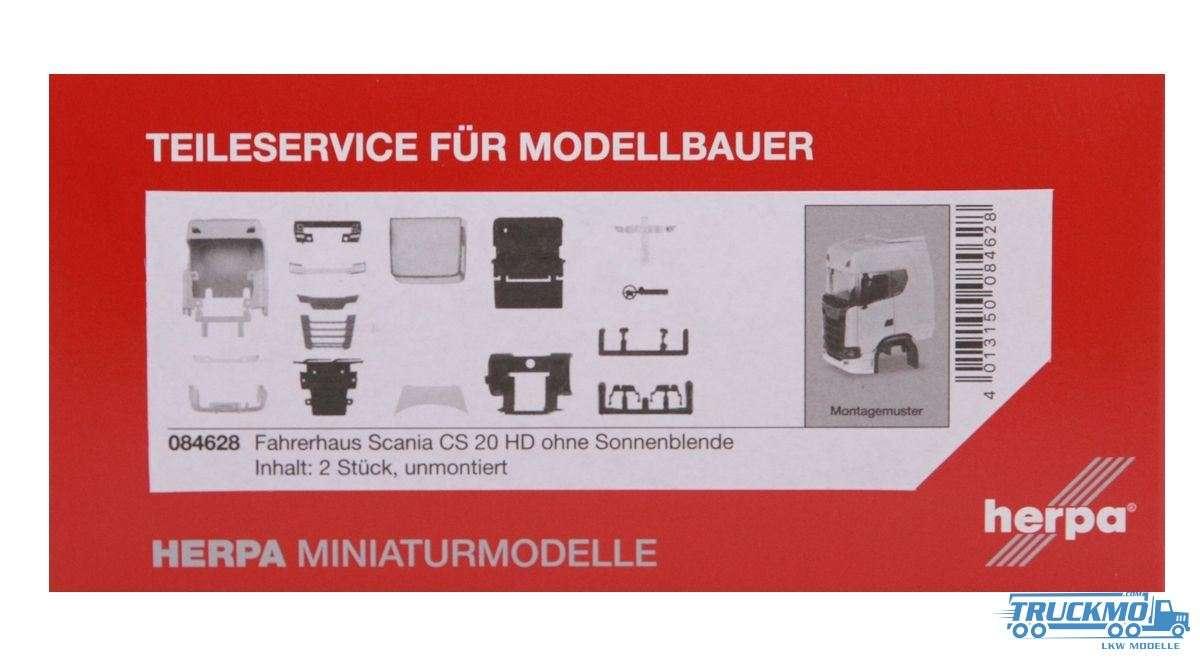 Herpa Zubehör TS Fahrerhaus Scania CS 20 HD ohne Sonnenblende 084628