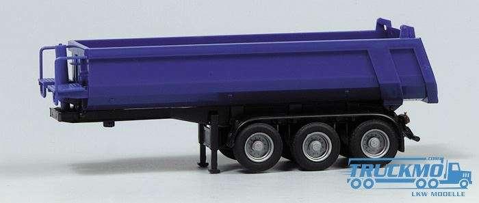AWM Carnehl Kippmuldenauflieger 3Achs Mulde blau, Chassis schwarz 670153