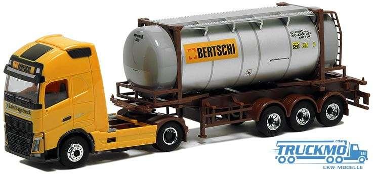 AWM Bertschi Lehrlingstruck Volvo GL FH XL 2013 24ft Tankcontainer Auflieger 5056