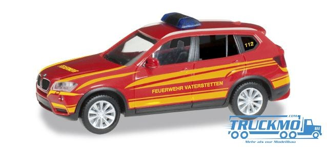 Herpa Feuerwehr Vaterstetten BMW X3 Kommandofahrzeug Modell