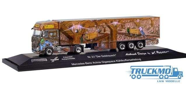 Herpa Weltgeschichte Nr. 2.1 Der Goldrausch Mercedes-Benz Actros Gigaspace Kühlkoffer-Sattelzug 1220