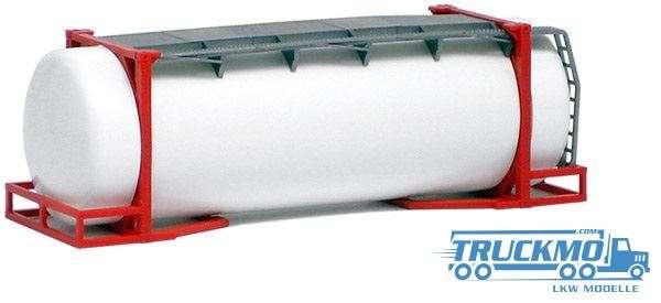 AWM 26ft. Tankcontainer weiß Rahmen rot 490080