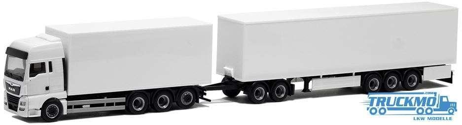 Herpa MAN TGX XXL Euro 6 Eurocombi (weiß) Motorwagen 4achs 933551