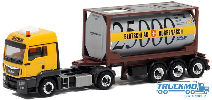 herpa bertschi lkw modell man tgs tankcontainer 20 ft 5016. Black Bedroom Furniture Sets. Home Design Ideas