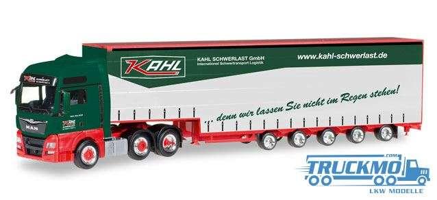 Herpa Kahl Schwerlast LKW Modell MAN TGX XXL Euro 6 6x2 Meusburger-Sattelzug 306294