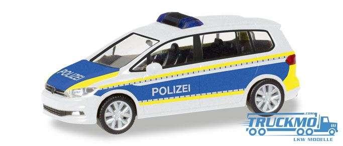 Herpa Polizei Brandenburg VW Touran 093576