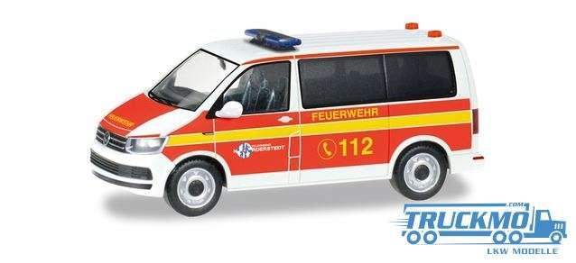 Herpa Freiwillige Feuerwehr Norderstedt VW T6 Bus Mannschaftstransportwagen 094474