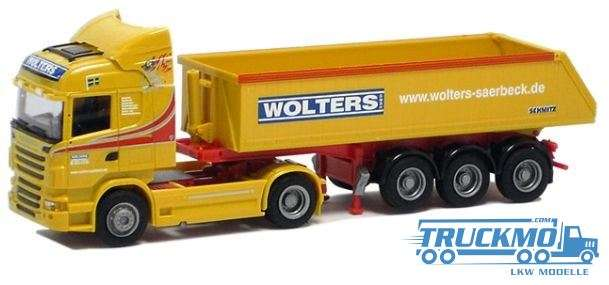 AWM Wolters Scania 09 Highl. Aerop. Eckmulden Sattelzug LKW Modelle
